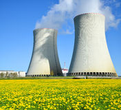 Nuclear power plant Temelin Stock Images