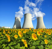 Nuclear power plant Temelin. In Czech Republic, Europe Royalty Free Stock Photography