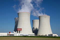 Nuclear power plant Temelin in Czech Republic Europe Royalty Free Stock Photography