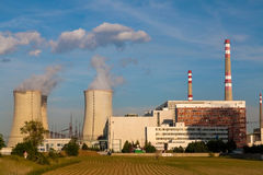 Nuclear power plant Temelin in Czech Republic Europe Stock Photo