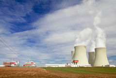 Nuclear power plant Temelin in Czech Republic Europe Stock Photos