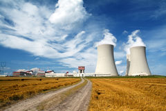 Nuclear power plant Temelin in Czech Republic Europe Stock Photography