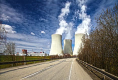 Nuclear power plant Temelin in Czech Republic Europe, HDR image Stock Images