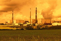 Nuclear power plant Temelin in Czech Republic Europe Royalty Free Stock Photos