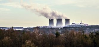 Nuclear power plant Temelin, Czech republic Royalty Free Stock Images