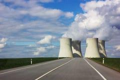 Nuclear power plant Temelin, Czech Republic. Nuclear power plant Temelin, South Bohemian region. Czech Republic royalty free stock photos