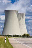 Nuclear power plant Temelin road Stock Photo