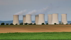 Nuclear power plant - time lapse Royalty Free Stock Photos