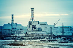 Nuclear power plant unit Royalty Free Stock Images