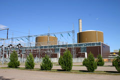 Nuclear power plants stock photography