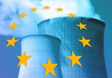 Nuclear power plants in europe. Representing about nuclear power plants in europe Royalty Free Stock Photography