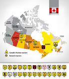 Nuclear power plants map of Canada 2 Royalty Free Stock Photography