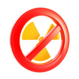Nuclear power and radiation forbidden Stock Image
