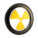 Nuclear power radiation sign isolated Stock Photography