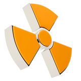 Nuclear power radiation sign Stock Photo