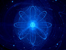 Nuclear power in space. Abstract science background Stock Photography