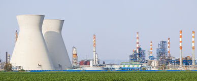 Nuclear power station Royalty Free Stock Photography