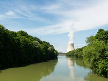 Nuclear Power Station. Isar 1 and Isar 2 in Bavaria, Germany Stock Image