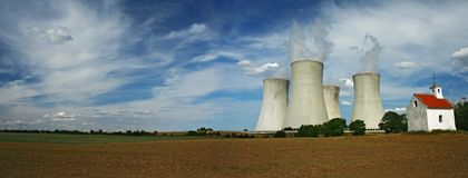 Nuclear power station Stock Images