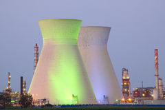 Nuclear power station ander blue sky Stock Image