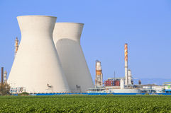 Nuclear power station ander blue sky Stock Photo