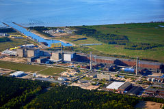 nuclear power station baltic sea Stock Photo