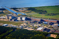 nuclear power station baltic sea Royalty Free Stock Photos
