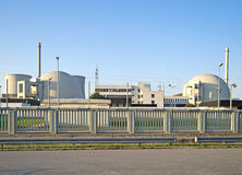 Nuclear Power Station Biblis Stock Photos