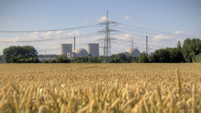 Nuclear Power Station. Biblis in Darmstadt stock footage