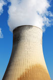 Nuclear power station cooling tower Royalty Free Stock Photo