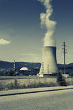 Nuclear power station, cooling tower Royalty Free Stock Image