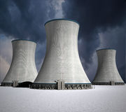 Nuclear power station Stock Photos