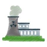 Nuclear power station energy pollution ed Stock Photos