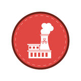 Nuclear power station energy pollution pink circle Stock Photo