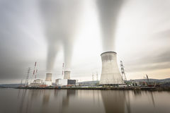 Nuclear Power Station Long Exposure Stock Images
