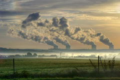Nuclear power station in the m Stock Photos