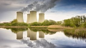 Nuclear Power Station stock video