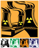 Nuclear power station set Royalty Free Stock Images