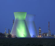 Nuclear power station under blue sky Royalty Free Stock Photo