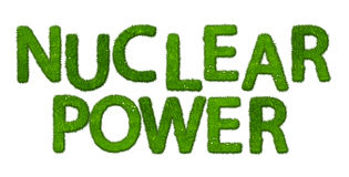 Nuclear power symbol made out of grass Stock Image