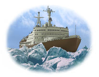 Nuclear-powered ice-breaker Stock Image