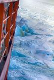 Nuclear-powered icebreaker solivet powerful first-year ice Stock Images