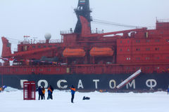 Nuclear-powered icebreaker took expedition to North pole Stock Photography