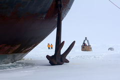 Nuclear-powered icebreaker took expedition to North pole Stock Photos