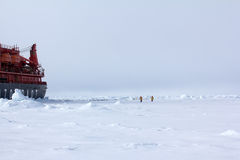 Nuclear-powered icebreaker took expedition to North pole Royalty Free Stock Photo