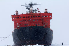 Nuclear-powered icebreaker took expedition to North pole Royalty Free Stock Images