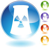 Nuclear Powerplant Crystal Icon Royalty Free Stock Image