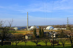 Nuclear Powerstation in Idyllic Landscape Royalty Free Stock Images