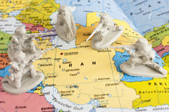 Nuclear problems in Iran Royalty Free Stock Images