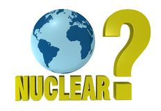 Nuclear question Stock Photography